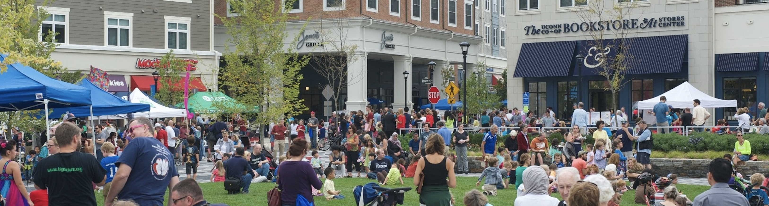 Storrs - group of people in square